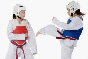 Taekwondo sparring in Calgary